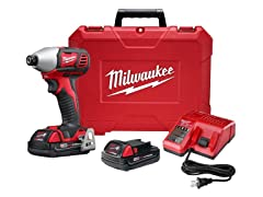 "Milwaukee M18 1/4"" Hex Impact Driver Kit"