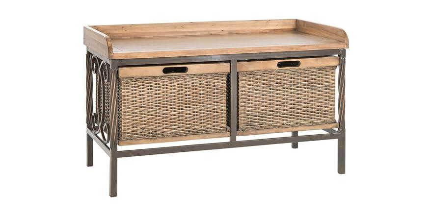 Noah Wooden Storage Bench Oak