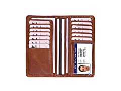 RFID Protected Top Grain Leather Wallet