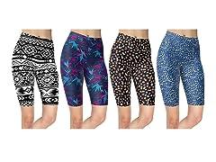 Nextex Women's Asstd Biker Shorts 4-Pk