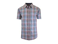GBH Men's Plaid & Checkered Dress Shirt