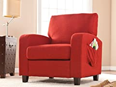 Kellyton Arm Chair - Cherry Red