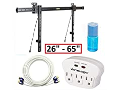 "Wirelogic 26-65"" Ultra Slim Mount & Cable Kit"
