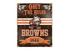 Cleveland Browns Vintage Metal Sign