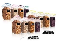 Vtopmart 4-Piece Cereal Storage Container Set