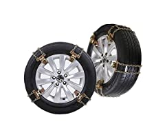 Snow Tire Chains - 235mm-285mm, Set of 8