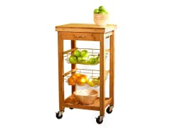 TMS Bamboo Kitchen Trolley