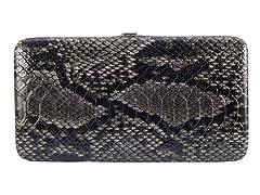 Vecelli Italy Snake Wallet, Black