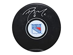 Dylan McIlrath Rangers Signed Puck