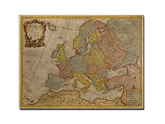 Map of Europe 1700' Canvas Art- 2 Sizes