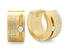 18kt Gold Plated Greek Key Accent