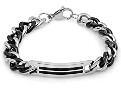 Two-tone Cuban Bracelet w/ Black IP