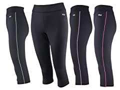 Fila Side Piped Tight Capri (1X-3X)
