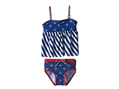 Anchor Tankini - Royal Blue (12M-6X)