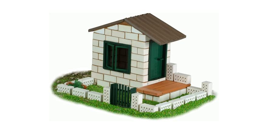 Teifoc White Brick House Set