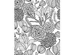 Black Secret Garden Peel & Stick Wallpaper