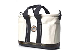 Canvas 14-Pocket Oval Bucket with Handle