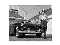 Frank Sinatra Next To T-Bird