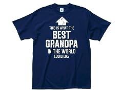 """Best Grandpa"" 100% Cotton T-Shirt"