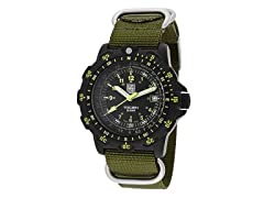 Men's Recon Black w/ Green Nylon Band