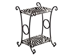 Animal Print Accent Table -  Zebra