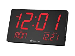 Avalon Oversize LED Digital Wall/Desk Clock
