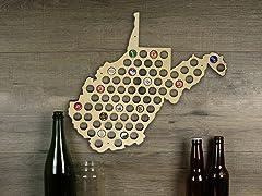 Beer Cap Map: West Virginia