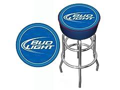 Bud Light Blue Bar Stool