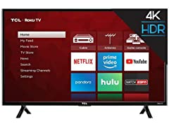 TCL 4K UHD HDR Roku Smart LED TV