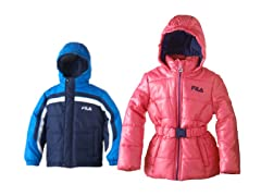 Boy & Girl Fila Puffer Jackets