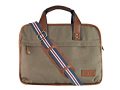 AVI-8 Canvas Briefcase, Khaki Green