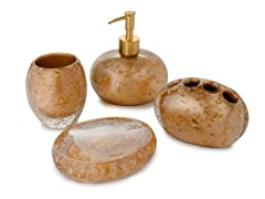 Nicole Miller Gold Rush Bath Set