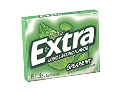 Extra Spearmint Sugarfree Gum, 15 Count
