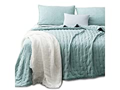 Kasentex Quilt Coverlet Bedspread Blanket Set