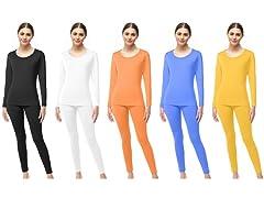 Womens Microfiber Fleece Thermal Set 4Pc
