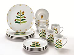 Rachael Ray Holiday Hoot 16pc Set