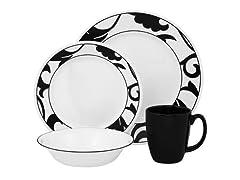 Vitrelle Glass 16-Pc Dinnerware Set