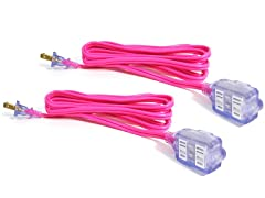 Bold coolQubez 9' Lighted Extension Cord 2 Pack