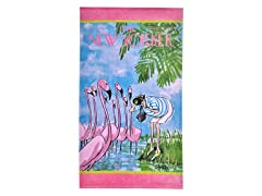 The New Yorker-Flamingo Beach Towel