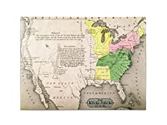 Map of the United States in 1803' Canvas Art- 2 Sizes