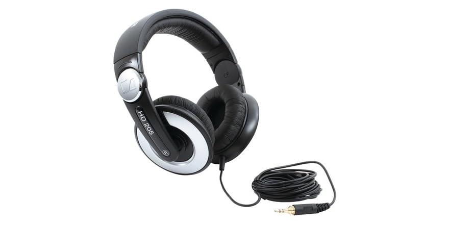 sennheiser hd 205 ii studio grade wired headphones. Black Bedroom Furniture Sets. Home Design Ideas