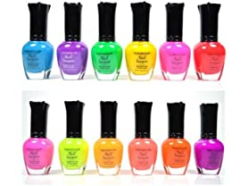 Kleancolor Neon Colors 12 Nail Polish Set