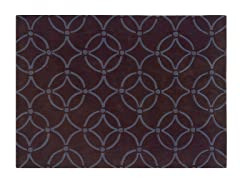 TRIO Chocolate and Blue Rug- 2 Sizes