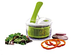 Mini Lever One-Push Salad Spinner