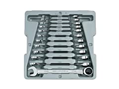12-Piece Metric Ratcheting Wrench Set
