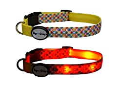 Dog-e-Glow Dots LED Lighted Collar-Large