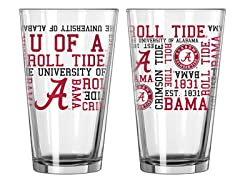 Alabama Spirit Pint Glasses (2)