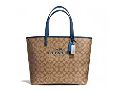 Coach Metro Signature C Coated Canvas Tote, Khaki/Navy