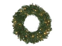 """Allegheny Fir 30"""" Wreath Prelit Clear"""