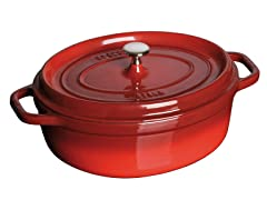Staub 4-Qt. Wide Oval Cocotte - Red